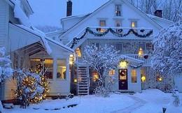 Những ngôi nhà trang hoàng lộng lẫy đón Noel đẹp đến mê mẩn giữa tuyết trắng