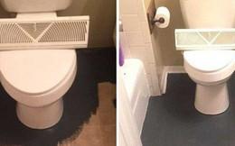 Bà mẹ mua sơn đen về phủ kín sàn nhà vệ sinh, ai cũng thấy khó hiểu nhưng nhìn thấy thành quả thì thán phục