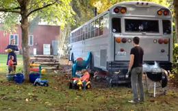 Ngỡ ngàng với căn nhà tuyệt đẹp từ chiếc xe bus cũ nát