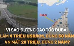 Vì sao đường cao tốc Dubai làm 4 triệu USD/km, dùng 50 năm, VN mất 20 triệu, dùng 2 năm?