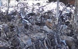 Hơn 100 xe máy trong kho giữ xe vi phạm bị cháy rụi