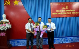Quảng Ngãi có tân Trưởng Ban Nội chính Tỉnh ủy