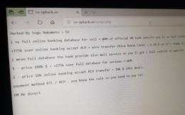 Ngân hàng Hợp tác xã Việt Nam nói gì sau vụ hacker tấn công website đòi tiền chuộc 100.000 USD?