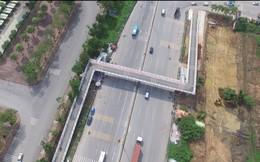 Cận cảnh cầu đi bộ chữ Z 18 tỷ đồng cho xe thô sơ và xe máy đầu tiên tại Hà Nội
