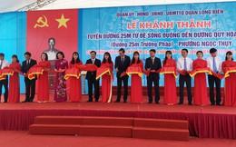 Khánh thành đường 25m Trường Pháp tại quận Long Biên