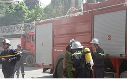 Cháy tại tòa nhà Viện Dầu khí Việt Nam