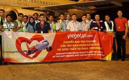 Chuyến bay cứu trợ nạn nhân động đất - sóng thần của Vietjet đã tới Indonesia
