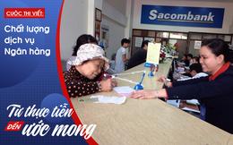 Đi giao dịch ngân hàng, bối rối viết đi viết lại những phiếu yêu cầu