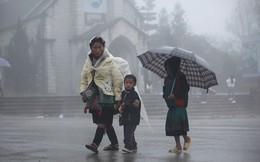 Tết Dương lịch miền Bắc đón mưa rét