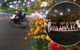 """Câu chuyện đáng yêu về hai vợ chồng """"dịu dàng giữa thịnh nộ"""": Mang hoa ế 30 Tết trang trí cho vòng xoay ở Sài Gòn"""