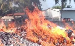 Hơn 50.000 sản phẩm quần áo, giày dép... nhái bị đốt ra tro