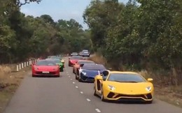 Clip: Dàn siêu xe đẳng cấp nối đuôi nhau chạy trên đường phố Việt Nam khiến nhiều người cứ ngỡ đang ở Dubai