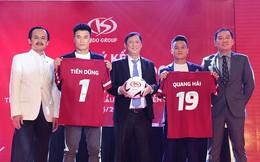 Tiến Dũng và Quang Hải làm đại sứ thương hiệu cho KIDO