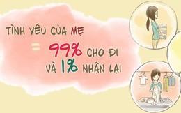 Tình yêu của mẹ: Thứ tình yêu cho đi 99% mà chỉ nhận lại được 1%
