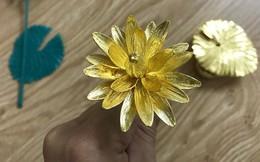 Đại gia Việt chi 200 triệu mua hoa súng bằng vàng nguyên khối làm quà tặng vợ ngày 8/3