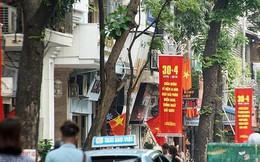 Phố phường Hà Nội rực rỡ cờ đỏ sao vàng mừng ngày thống nhất Nhịp sống Thủ đô