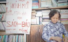 """Cụ bà 73 tuổi trích lương hưu làm quầy sách báo miễn phí giữa Hà Nội: """"Từ lúc mở đến nay, ngày nào cũng nhận được quà"""""""