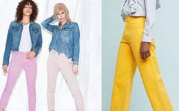 Zara cùng loạt thương hiệu khác lăng xê nhiệt tình mẫu quần jeans sắc màu trong hè này