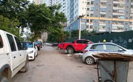 Ảnh: Giải tỏa bãi đỗ xe ở Hà Nội, dân đành để xe trên bãi rác