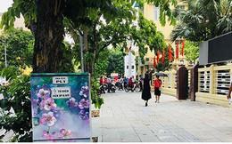 Hà Nội: Hình vẽ hoa trên tủ điện làm đường phố dịu mát ngày hè