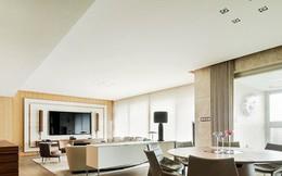 Căn hộ có một phòng khách rộng rãi, hiện đại