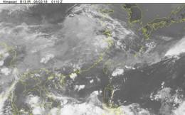 Vùng áp thấp đang mạnh thành áp thấp nhiệt đới trên Biển Đông
