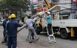 Sài Gòn xuất hiện gió lốc lớn, nhiều cây xanh bị quật ngã bật gốc