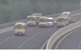 Xác minh 3 xe khách dàn hàng ngang trên cao tốc Hà Nội-Hải Phòng