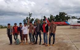 Bầu Đức điều trực thăng giải cứu thành công 26 người bị lũ bao vây ở Lào