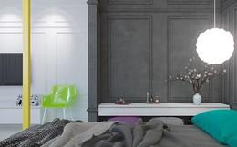 Căn hộ 2 phòng ngủ được xử lý màu sắc khéo léo