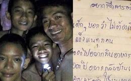HLV đội bóng Thái Lan gửi thư viết tay xin lỗi cha mẹ các cậu bé bị mắc kẹt