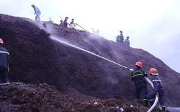 Cháy lớn tại kho dăm gỗ, hàng trăm tỷ đồng bị thiêu rụi