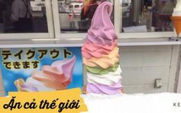 """Ai đến Nhật cũng tìm cho được cây kem đủ màu đủ vị """"8 trong 1"""" này đây"""