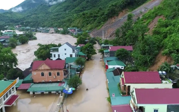 Toàn cảnh mưa lũ tại Nghệ An nhìn từ trên cao