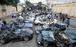 Philippines ủi nát loạt siêu xe nhập lậu trị giá gần 6 triệu USD