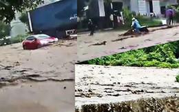 Video: Cận cảnh lũ cuốn gây sạt lở ở Sơn La