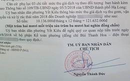"""""""Sốc"""" khi nhận thông báo thu phí rác sinh hoạt hơn 120 triệu từ UBND phường"""