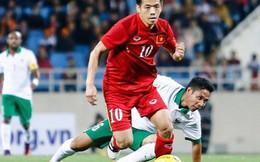 """Tiền đạo Văn Quyết - người ghi bàn thắng tung lưới Olympic UAE """"già"""" thứ nhì đội tuyển, là anh rể tương lai của Duy Mạnh"""