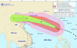 Siêu bão Mangkhut trở thành cơn bão số 6, giật trên cấp 17
