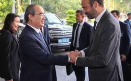 Bí thư Thành ủy Nguyễn Thiện Nhân hội kiến thủ tướng Pháp