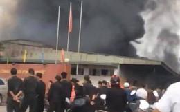 Hưng Yên: Lửa và khói bốc cháy khủng khiếp tại công ty dược, bao trùm toàn khu vực