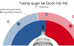 Infographics: Kết quả bầu cử Mỹ 2018 và tương quan Dân chủ-Cộng hòa