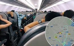 """Clip: Hành khách đồng loạt vào """"tư thế an toàn"""" trên chuyến bay Vietjet nghi gặp sự cố phải bay vòng trên trời rồi quay lại Tân Sơn Nhất"""