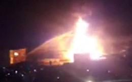 Cháy lớn cây xăng ở Nha Trang