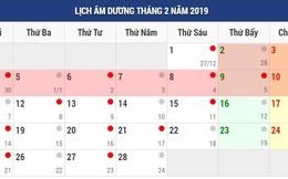 Dịp Tết dương lịch và Tết âm lịch 2019 người lao động được nghỉ mấy ngày?
