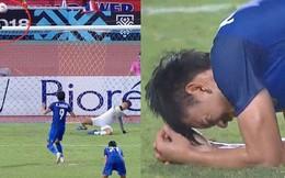 Cầu thủ Thái Lan suy sụp, gục khóc nức nở sau thất bại đau đớn trước Malaysia