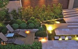 Những khoảng sân vườn đẹp lung linh trong ánh đèn