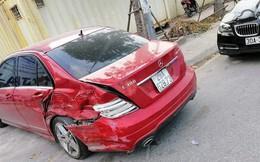 Ô tô đâm liên hoàn trên phố Hà Nội, 2 xe sang Mercedes và BMW hư hỏng nặng