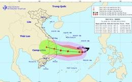 Ngày mai, bão số 6 hướng vào Nam Trung Bộ sẽ di chuyển rất phức tạp