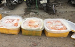 Thu giữ hơn 1 tạ trứng gà non bốc mùi hôi thối đang trên đường tiêu thụ tại Hà Nội